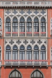 Venetian Style Windows at Luxurious Building in Venice