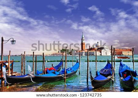 Venetian sunrise - stock photo