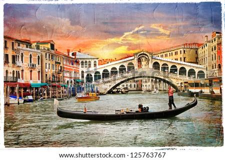 venetian sunset  artwork in ...