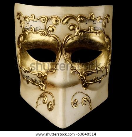 Venezian mask isolated on black, hi res files!