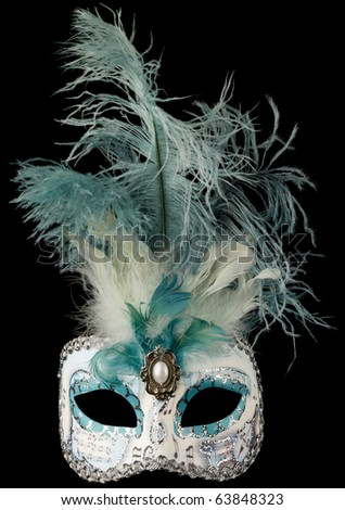 Venezian mask isolated on black, hi res files!