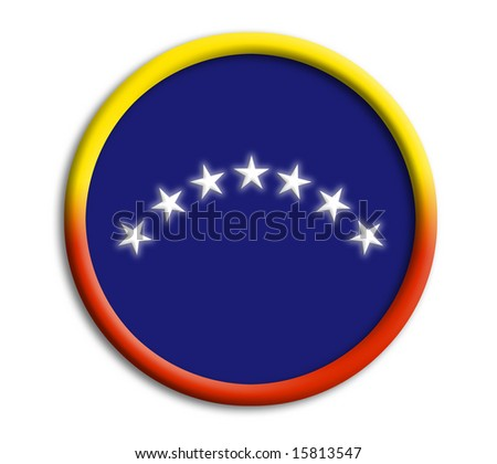 Venezuela button shield on white background