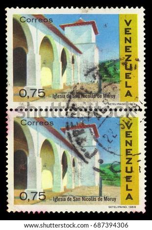 venezuela   circa 1969  a stamp ...