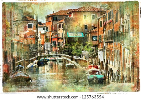 Venice, artwork in painting style