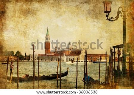 Venice - artwork in retro style