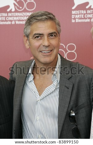 VENICE - AUG 31: George Clooney at the 68th Venice International Film Festival in Venice,Italy on August 31, 2011.