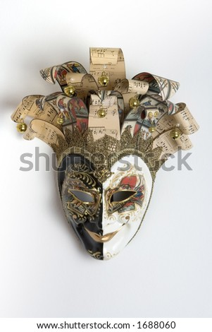 Venice carnival mask with musical inspiration