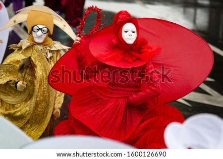 Venice Carnival, street carnival participants