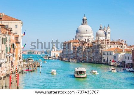 Venice city and Grand Canal in Venice, Italy. #737435707