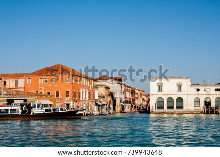 Venice City of Italy. View on Murano Island, Venetian Landscape. #789943648
