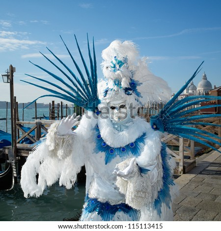 VENICE - FEBRUARY 17: Person in Venetian costume attends the Carnival of Venice, festival starting two weeks before Ash Wednesday on February 17, 2011 in Venice, Italy.