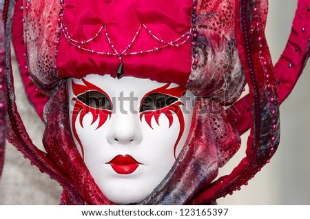 VENICE - FEBRUARY 15: Person in Venetian costume attends the Carnival of Venice, festival starting two weeks before Ash Wednesday on February 15, 2007 in Venice, Italy.