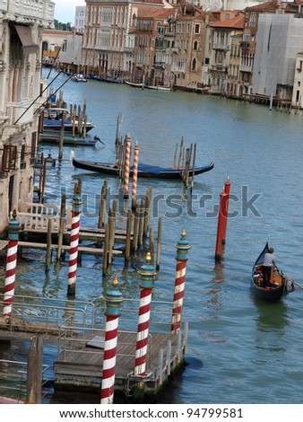 Venice - Grand Canal near the bridge Academia