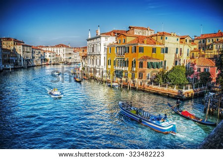 Venice Grand Canal under a dramatic sky #323482223