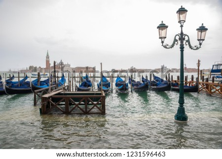 Venice high water, San Giorgio Island, Riva Sciavoni. #1231596463
