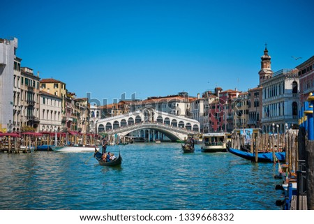 Venice / Italy - April 7 2018: Canals of Venice, Italy #1339668332