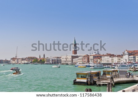 VENICE, ITALY - APRIL 27: Tourists are coming  in Venice, Italy on April 27, 2012. The city has an average of 50,000 tourists a day and it's one of the world's most internationally visited city.