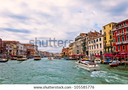 VENICE, ITALY - APRIL 01: Tourists from all the world enjoy the historical city of Venezia in Italy, famous UNESCO World Heritage Site, in a spring day on April 01, 2012 in Venice, Italy