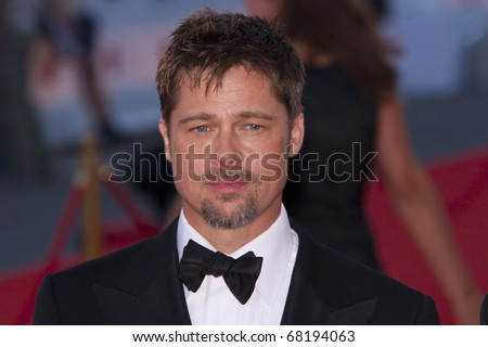 VENICE, ITALY - AUGUST 27: Brad Pitt attends the Opening Ceremony of the 65th Venice Film Festival and the 'Burn After Reading' premiere on August 27, 2008 in Venice, Italy.