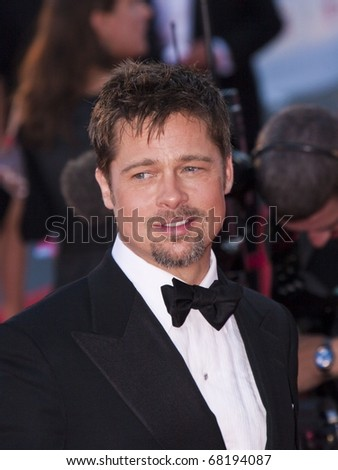 VENICE, ITALY - AUGUST 27: Brad Pitt attends the Opening Ceremony of the 65th Venice Film Festival and the 'Burn After Reading' premiere on August 27, 2008 in Venice, Italy. - stock photo