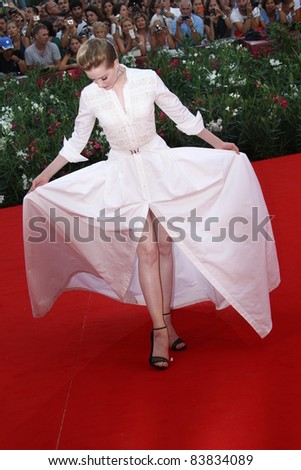 VENICE, ITALY - AUGUST 31: Evan Rachel Wood  attends 'The Ides Of March' premiere during the 68th Venice Film Festival at Palazzo del Cinema on August 31, 2011 in Venice, Italy.