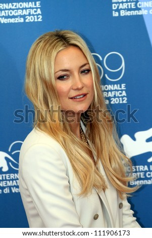 VENICE, ITALY - AUGUST 29: Kate Hudson attends 'The Reluctant Fundamentalist' Photocall during the Venice Film Festival on August 29, 2012 in Venice, Italy