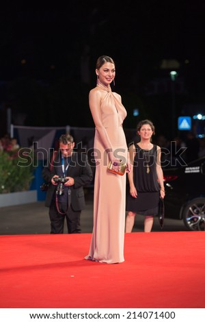 VENICE, ITALY - AUGUST 30: Orizzonti Jury Member Moran Atias attends the 'The Humbling' premiere during the 71st Venice Film Festival on August 30, 2014 in Venice, Italy.