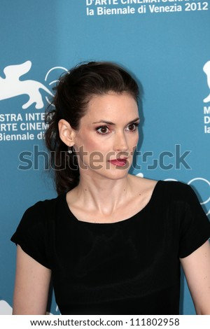 VENICE, ITALY - AUGUST 30: Winona Ryder attends 'The Iceman' Photocall during the Venice Film Festival on August 30, 2012 in Venice, Italy