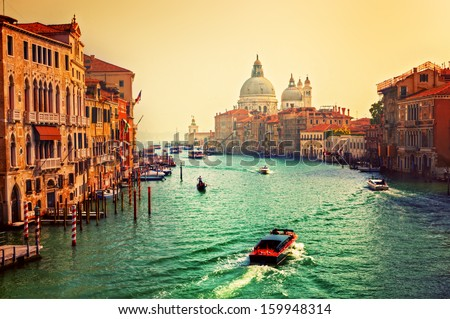 venice  italy. grand canal and...