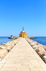 Venice, Italy. Gulf of Venice Lighthouse - Punta Sabbioni Leuchtturm