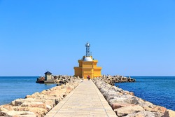 Venice, Italy. Gulf of Venice Lighthouse - Punta Sabbioni Light house