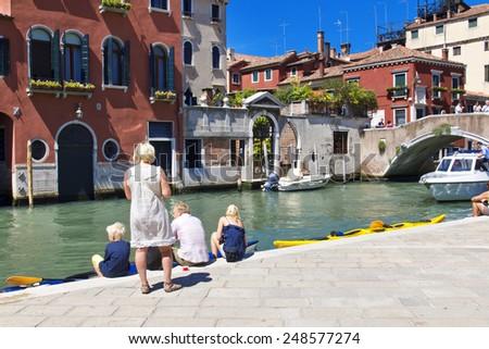 VENICE, ITALY, JUNE 03, 2014: Beautiful view of Venice, Italy #248577274