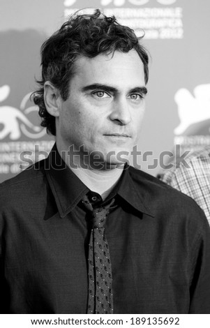 VENICE, ITALY - SEPTEMBER 01: Actor Joaquin Phoenix attends \'The Master\' photo-call during the 69th Venice Film Festival on September 1, 2012 in Venice, Italy