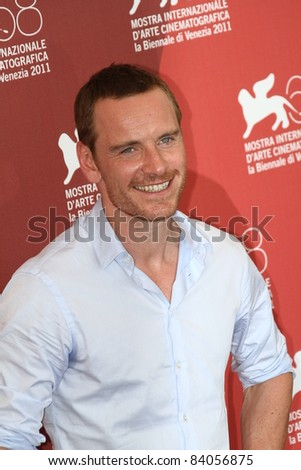 VENICE, ITALY - SEPTEMBER 02: Actor Michael Fassbender poses at the 'A Dangerous Method' photocall at the Palazzo del Cinema during the 68th Venice Film Festival on September 2, 2011 in Venice, Italy