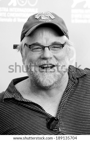 VENICE, ITALY - SEPTEMBER 01: Actor Philip Seymour Hoffman attends \'The Master\' photo-call during the 69th Venice Film Festival on September 1, 2012 in Venice, Italy