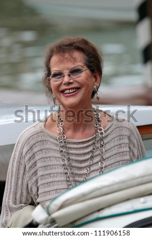 VENICE, ITALY - SEPTEMBER 03 : Claudia Cardinale arrives at the Hotel Excelsior during the Venice Film Festival on September 03, 2012 in Venice, Italy
