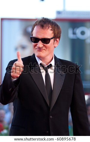 VENICE, ITALY - SEPTEMBER 11: Director Quentin Tarantino on the red carpet for the Closing ceremony during the 67th Venice Film Festival  on September 11, 2010 in Venice, Italy.