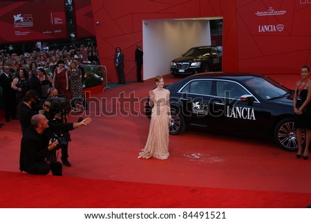 VENICE, ITALY - SEPTEMBER 04: Jessica Chastain  attend the 'Wild Salome' premiere during the 68th Venice Film Festival at Palazzo del Cinema on September 4, 2011 in Venice, Italy.