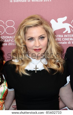 VENICE, ITALY - SEPTEMBER 01: Madonna during the photocall of 'W.E.' during the 68th Venice Film Festival on September 01, 2011 in Venice, Italy.