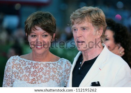 VENICE, ITALY - SEPTEMBER 06: Robert Redford and wife Sibylle Szaggars arrive on the red carpet of 'The company you keep'  during the Venice Film Festival on September 06, 2012 in Venice, Italy