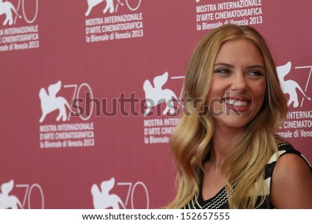 VENICE, ITALY - SEPTEMBER 03: Scarlett Johansson attends 'Under The Skin' Photocall during the 70th Venice International Film Festival at Palazzo del Casino on September 3, 2013 in Venice, Italy.