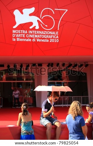 VENICE, ITALY - SEPTEMBER 04: Waiting on the red carpet at 67th Venice Film Festival September 04, 2010 in Venice, Italy.