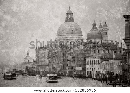 venice  italy . view from grand ...