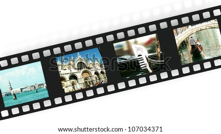 Venice on film strip