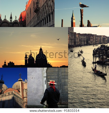 venice photo collage