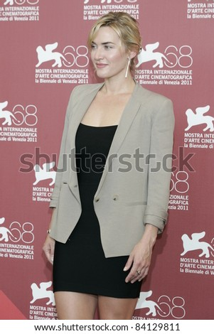 VENICE -SEP 1: Kate Winslet at the 68th Venice International Film Festival in Venice, Italy on September 1, 2011.