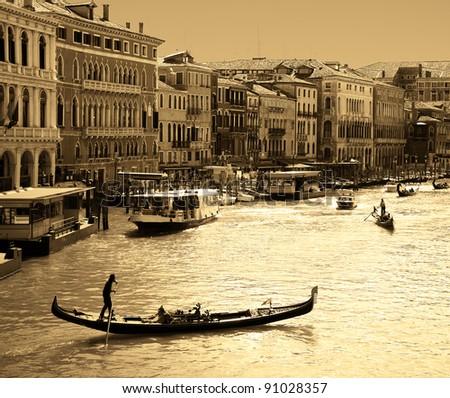 Venice - sepia toned picture