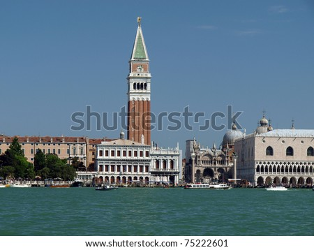 Venice - St. Mark's Square as seen from the San Macro Canal