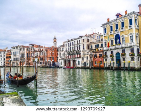 Venice The name of the city,  from Latin forms Venetia, Walking along the Grand Canal #1293709627