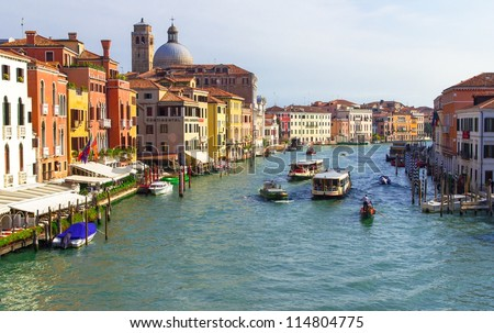 Venice view from bridge of the discalced (ponte scalzi).